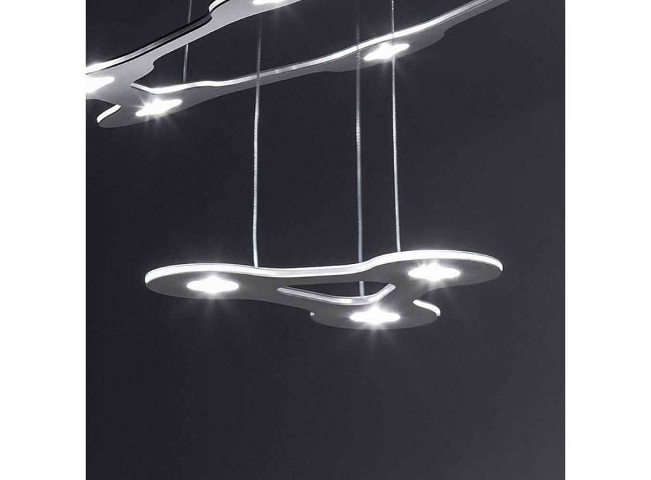 9 Lights Chandelier in Fine Painted Aluminum Made in Italy - Flash