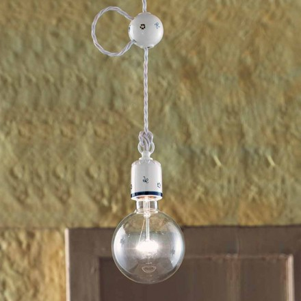 Rustic design pendant lamp made of ceramic by Ferroluce