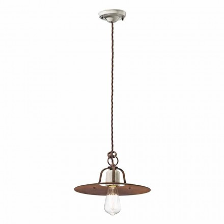 Industrial design pendant light made in Italy by Ferroluce