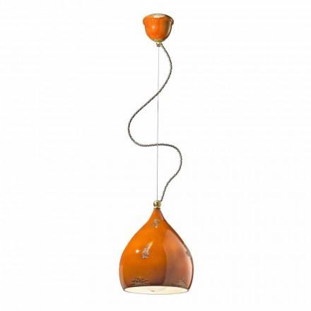 Vintage design pendant light handmade in Italy by Ferroluce