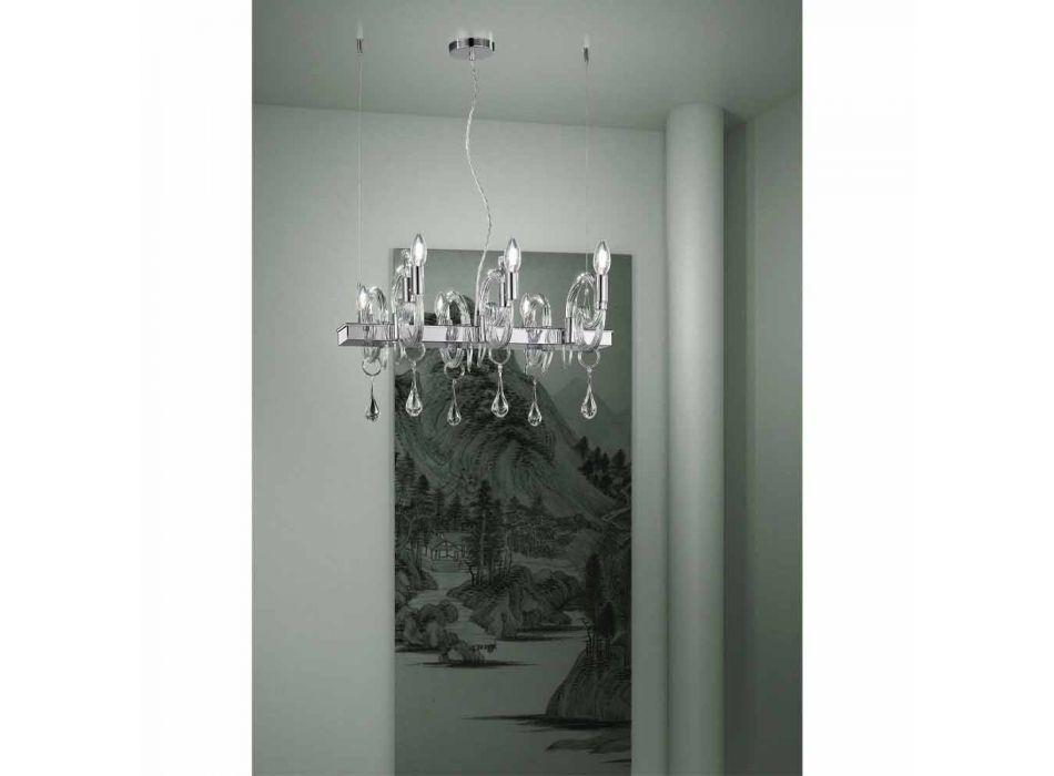 Artisan 6 Lights Chandelier in Venice Glass Made in Italy - Bernadette