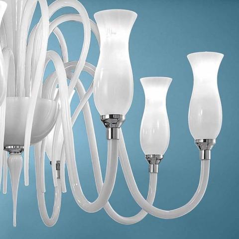Artisan 8 Light Venetian Glass Chandelier, Made in Italy - Vittoria