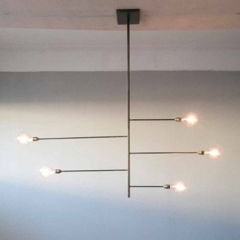 Artisan Design Chandelier with Iron Structure Made in Italy - Tinna