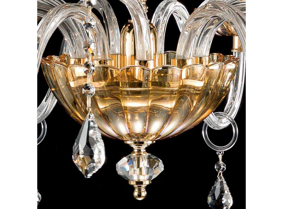 Classic desgin chandelier with 9 glass lights and Belle chisel