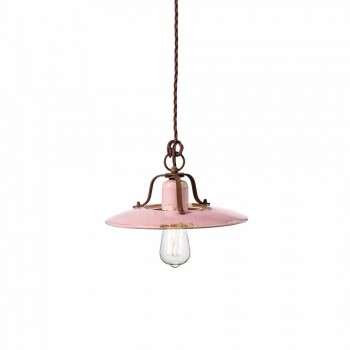 country Chandelier in ceramic and metal Monica Ferroluce