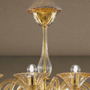 12 Lights Handmade Venetian Glass Chandelier Made in Italy - Margherita