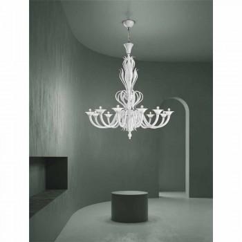 12 Lights Venice Glass Chandelier Handmade in Italy - Agustina