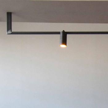 Modern Design Chandelier Handmade in Black Iron Made in Italy - Pamplona