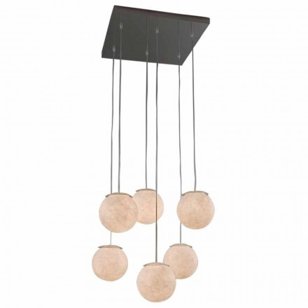 Modern design chandelier In-es.artdesign Sei Lune in nebulite