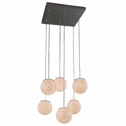 Modern design chandelier In-es.artdesign Sei Lune in nebulite