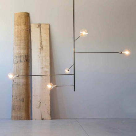 Modern Handmade Chandelier with Iron Structure Made in Italy - Tinna