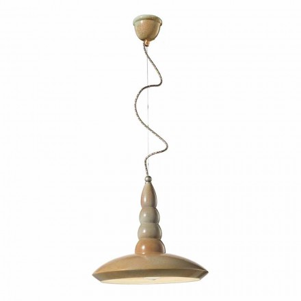 Vintage design ceramic pendant light made in Italy by Ferroluce