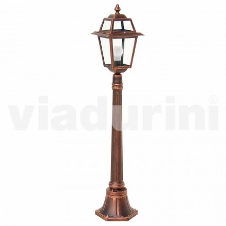 Outdoor low lamppost made with aluminum, produced in Italy, Kristel