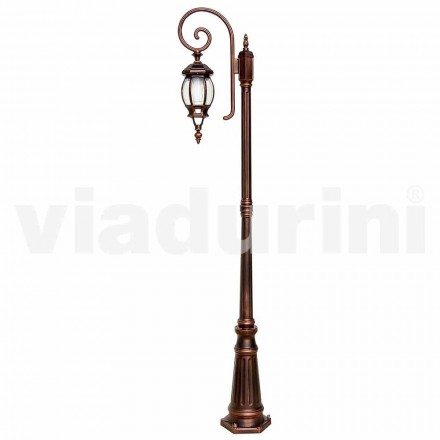 Classic garden lamppost made with aluminum, made in Italy, Anika