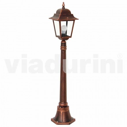 Outdoor low lamppost made with aluminum, produced in Italy, Aquilina