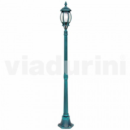 Outdoor lamppost made with die-cast aluminum, made in Italy, Anika