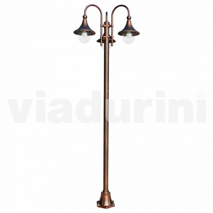 Outdoot die-cast aluminum lamppost, made in Italy, Anusca