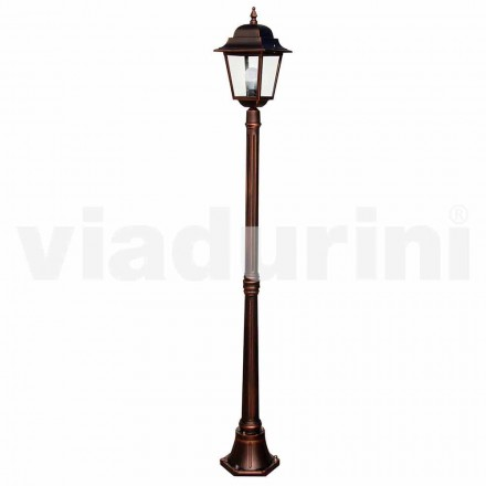 Classic garden lamppost made with aluminum, made in Italy, Aquilina