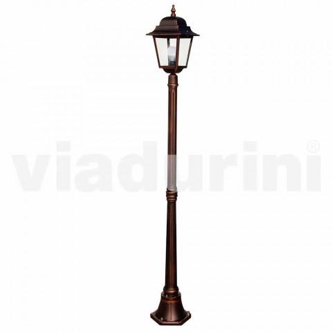 Classic aluminum garden lamp made in Italy, Aquilina
