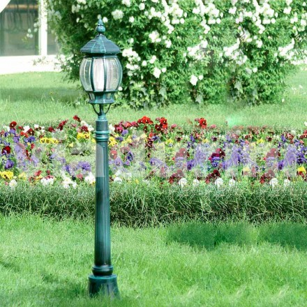 Garden lamppost made with die-cast aluminum, made in Italy, Anika