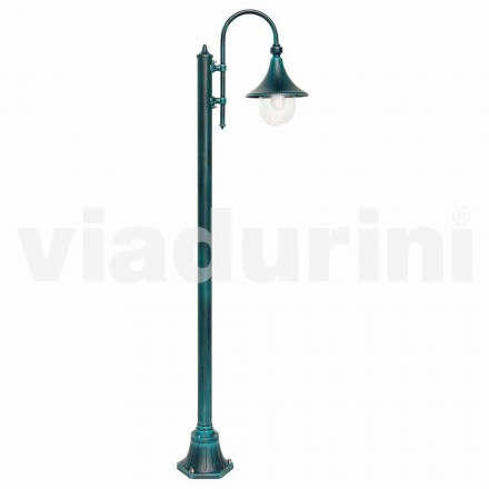 Garden lamppost made with die-cast aluminum, made in Italy, Anusca