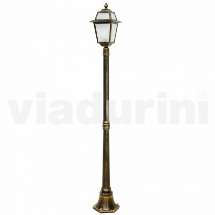 Classic outdoor lamppost made with aluminum, made in Italy, Kristel
