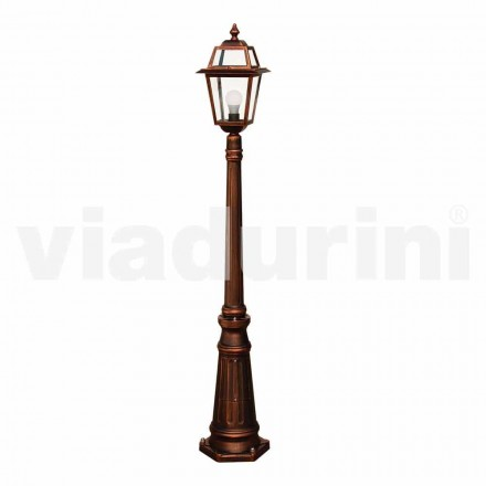 Outdoor lamppost made with die-cast aluminum, made in Italy, Kristel
