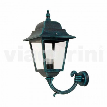 Garden wall lantern made with aluminum, produced in Italy, Aquilina