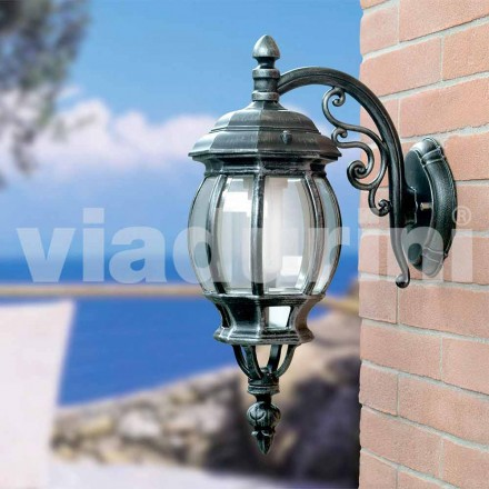 Garden wall lantern made with aluminum, produced in Italy, Anika