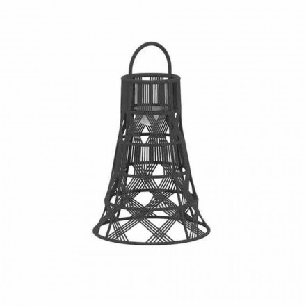 Outdoor Led Lantern in Rope and Aluminum Luxury Design - Tribal by Talenti