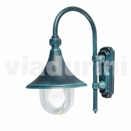 Garden / wall die-cast aluminum lantern made in Italy, Anusca