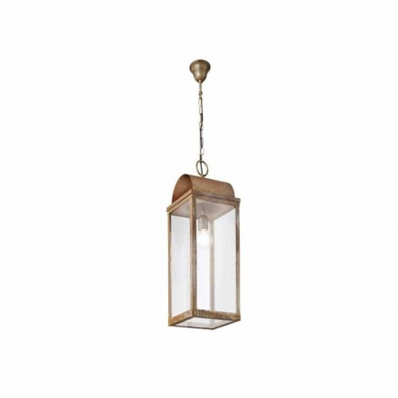 Made in Italy outdoor pendant lantern Il Fanale, rustic style
