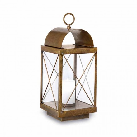 Vintage style outdoor floor lantern with candle Il Fanale