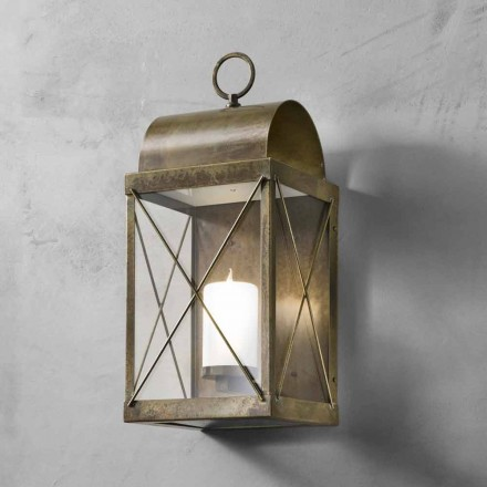Vintage style outdoor lantern made of brass or iron Il Fanale