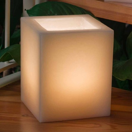 Scented Wax Lantern Scratched Effect with Candle Made in Italy - Famme