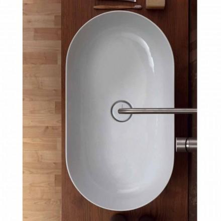 Modern design 70x35cm ceramic countertop washbasin made in Italy Star