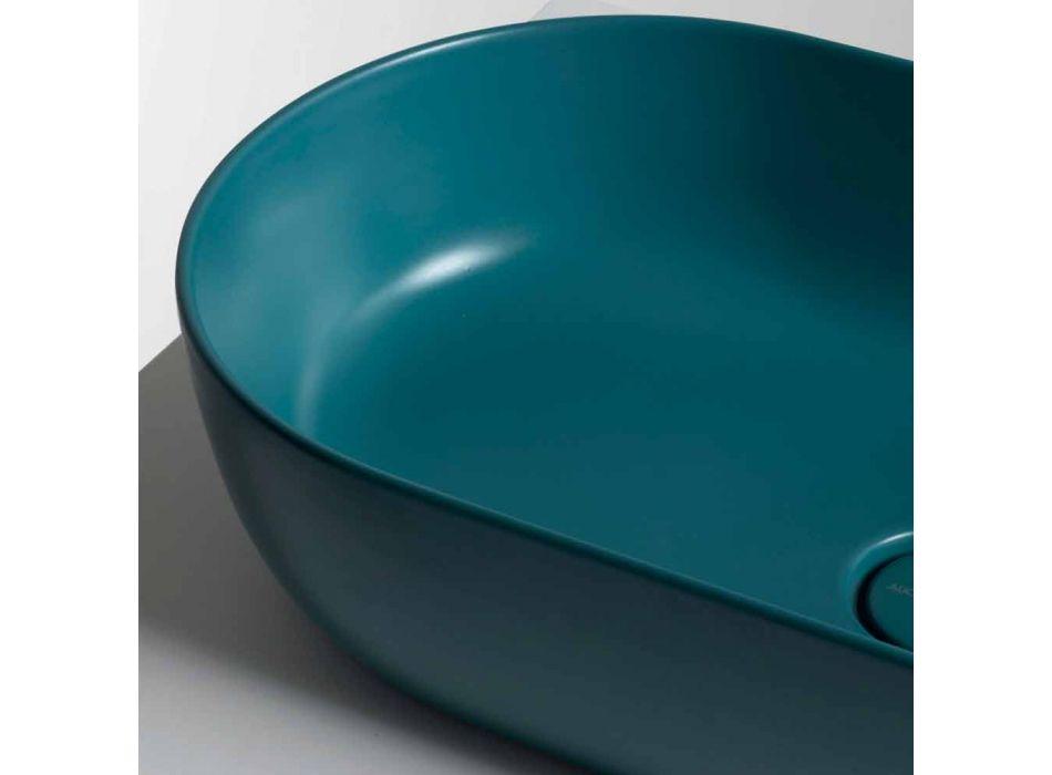 70x35cm ceramic countertop washbasin made in Italy Star, modern design