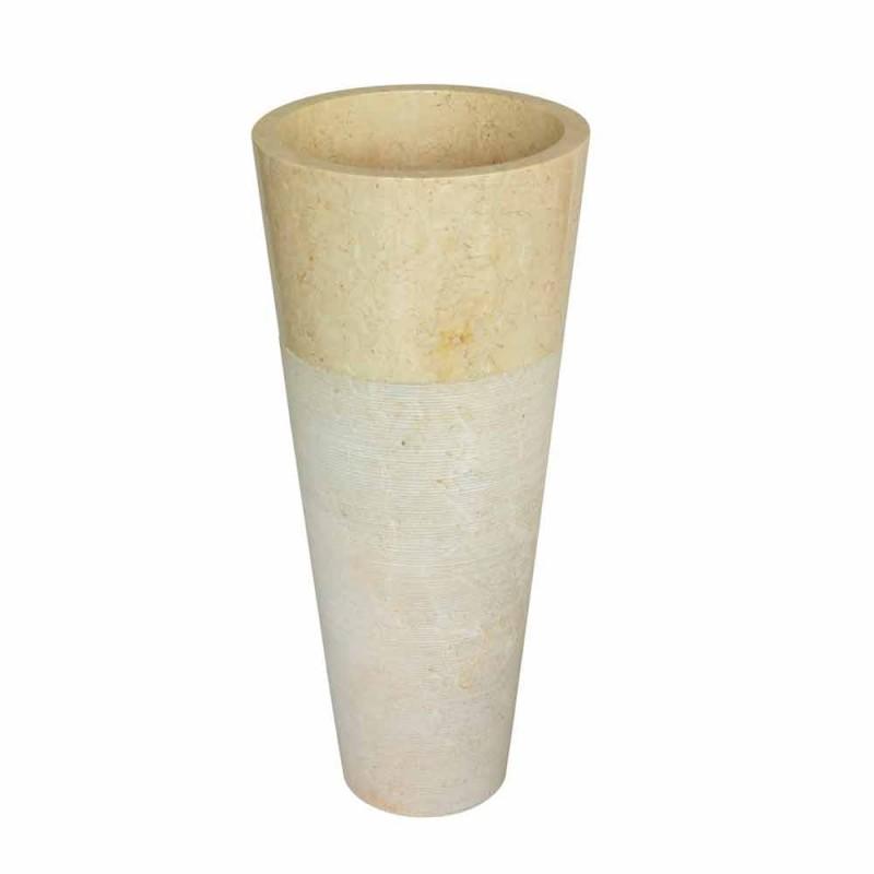 Washbasin Column Conical Stone Natural Beige Raja