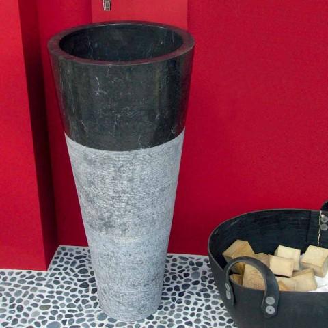 Washbasin Column Conical Stone Natural Black Raja