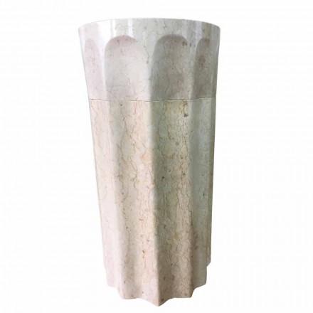 Natural stone freestanding washbasin white color Daisy, unique piece