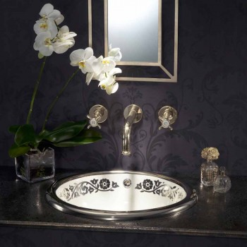 Built-in Baroque built-in sink in fire clay made in Italy, Otis