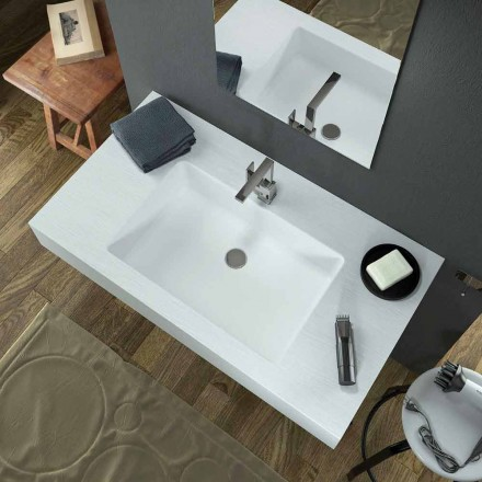 Modern suspension washbasin in Texolid produced in Italy, Rufina