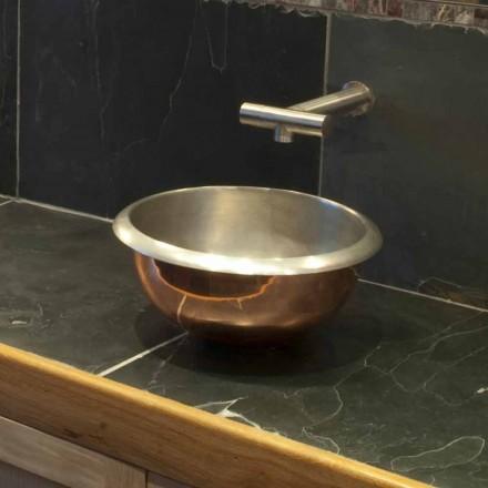 Design countertop washbasin made of copper Pure