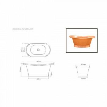 Sink design support copper handmade Cala