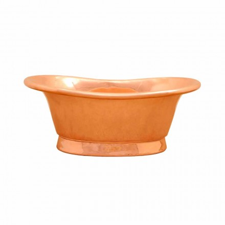 Copper countertop wash basin Calla, handmade