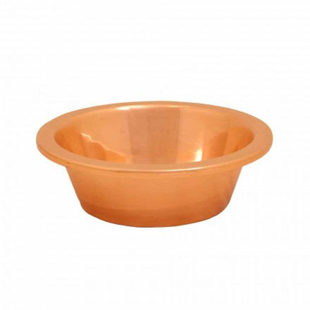 Design countertop washbasin made of copper Sole