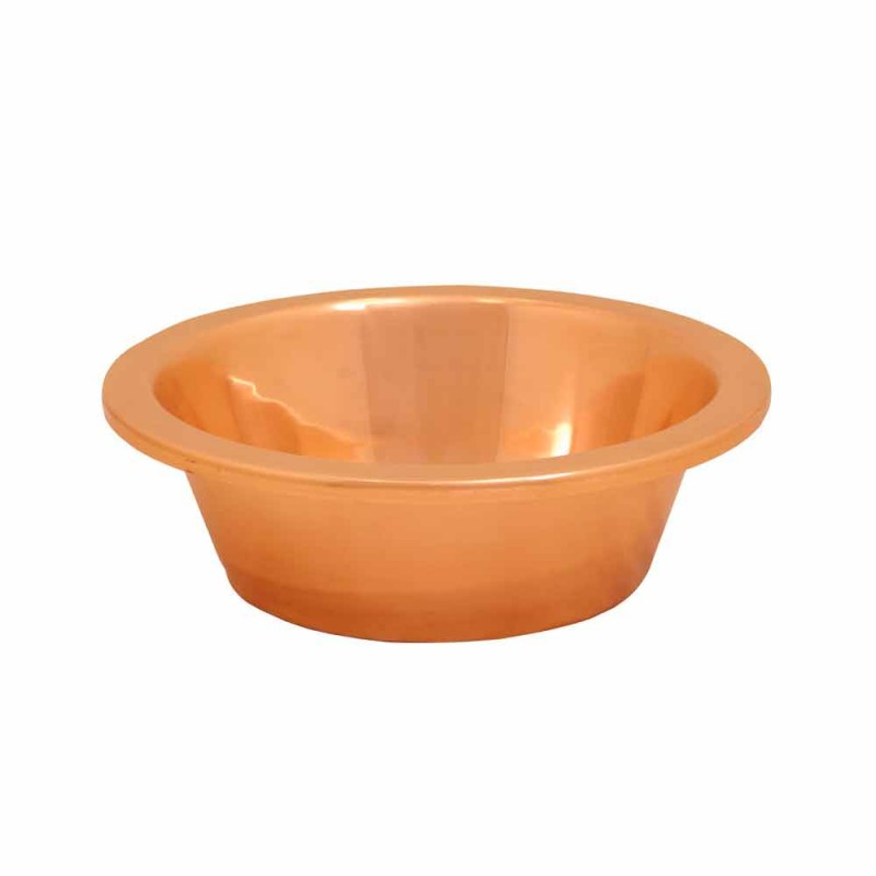 Washbasin from copper bearing handcrafted Sun