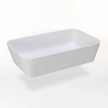 Rectangular Countertop Washbasin in Matt Resin Made in Italy - Cavan