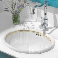 Built-in bathroom sink in porcelain and  24 carat gold, Santiago