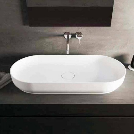 Modern design countertop washbasin Dalmine Maxi, made in Italy